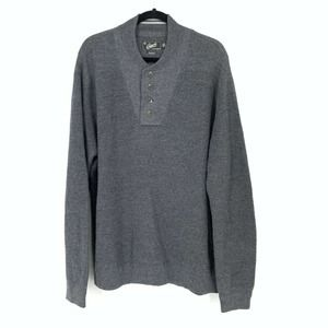 Grayers Wool Linen Pullover Sweater Button Neck